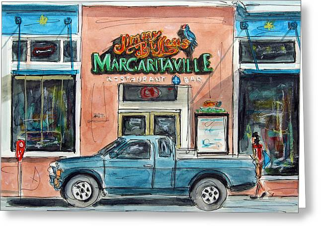 Meet Me At Margaritaville Greeting Card by Tim Ross
