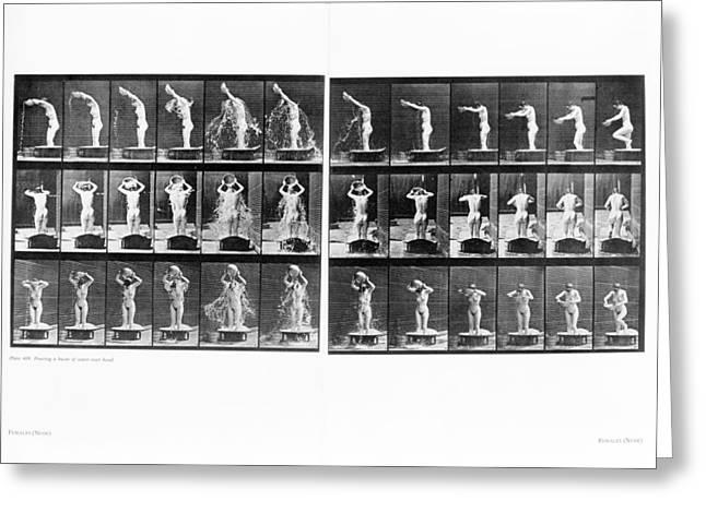 Muybridge Motion Study, 1907 Greeting Card