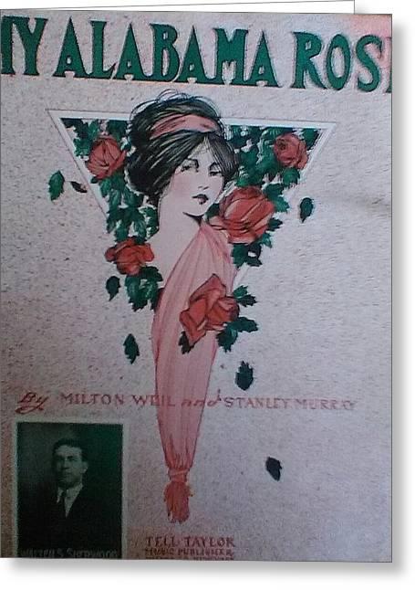 My Alabama Rose  Greeting Card by Jeanette  Malinchok