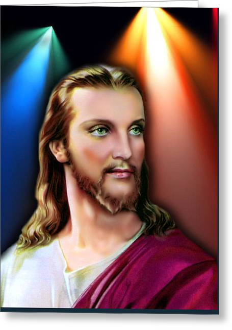 My Beautiful Jesus 3 Greeting Card by Karen Showell