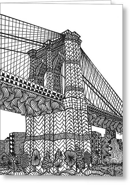 My Beloved Brooklyn Bridge Greeting Card