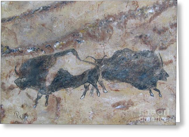 My Bison Lacaze Cave Painting Greeting Card