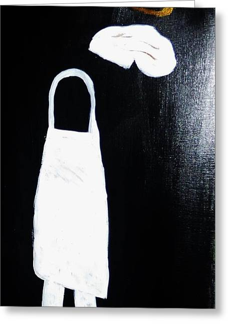 My Chef My Angel Greeting Card by Marie Bulger