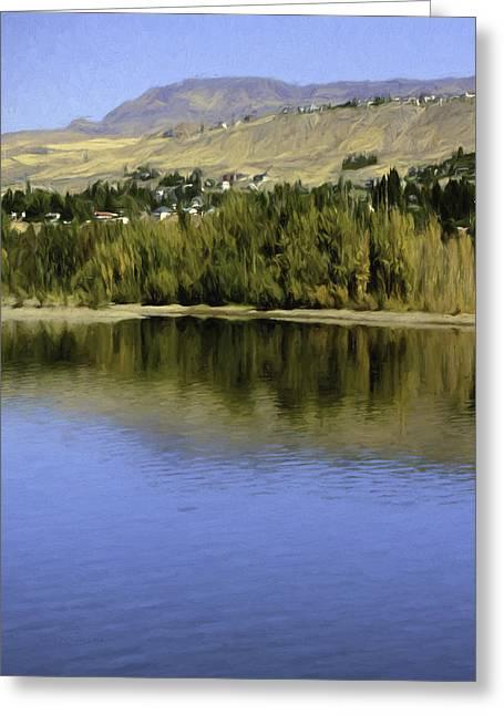 My Columbia River Greeting Card by Jean OKeeffe Macro Abundance Art