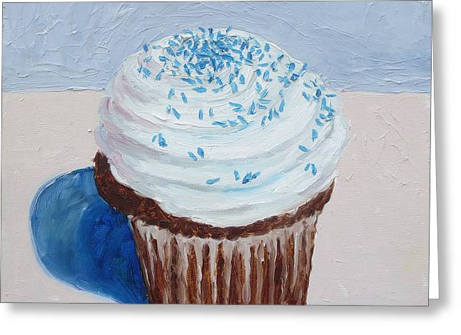 My Cup Cake Greeting Card by William Reed