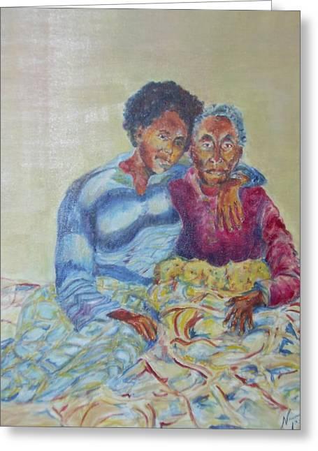 My Dear Grandma Greeting Card by Esther Newman-Cohen