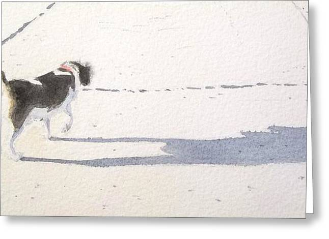 My Dog Greeting Card by Yoshiko Mishina