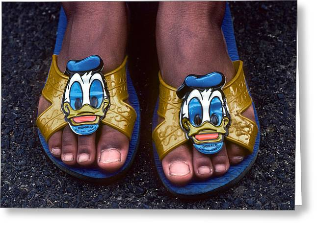 My Donald Duck Sandals Greeting Card