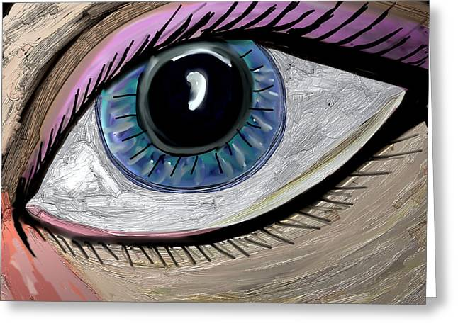 My Eye Greeting Card by Kim Peto