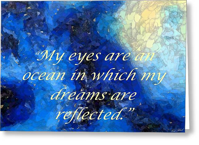 My Eyes Greeting Card by Cole Black