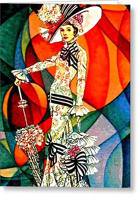 My Fair Lady Greeting Card by Tammera Malicki-Wong