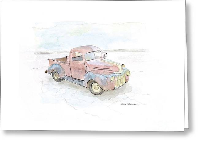 My Favorite Truck Greeting Card by Joan Sharron