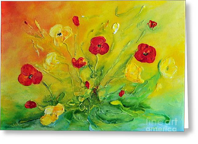 Greeting Card featuring the painting My Favourite by Teresa Wegrzyn