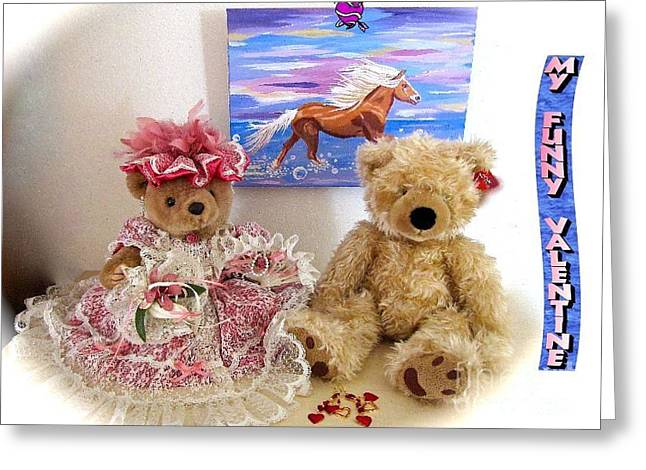 My Funny Valentine Greeting Card by Phyllis Kaltenbach
