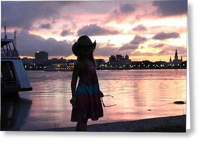 My Girl In New Orleans Greeting Card
