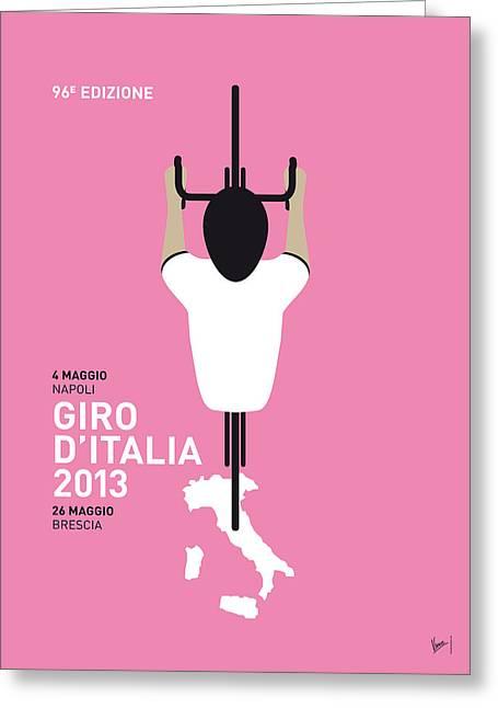 My Giro D'italia Minimal Poster Greeting Card