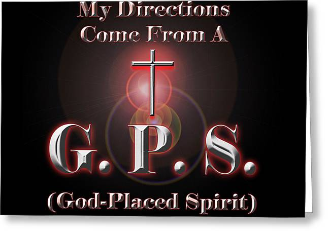 My Gps Greeting Card