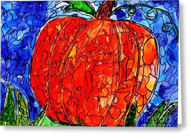 My Halloween Pumpkin Greeting Card by PainterArtist FIN