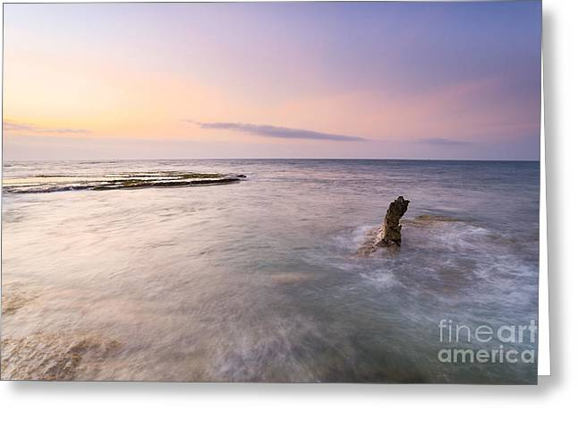 My Hiep Beach In Sunrise Greeting Card by Phong Tran