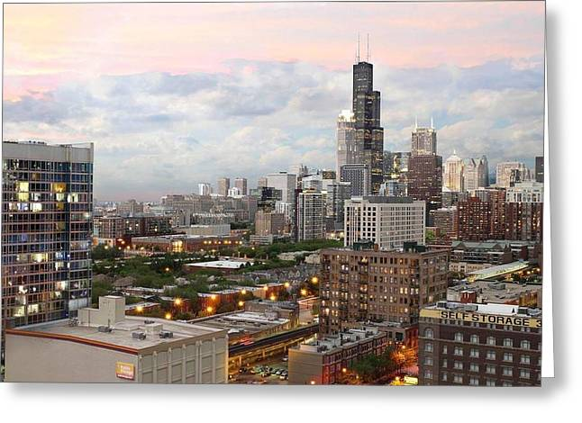 My Home Town Chicago Greeting Card