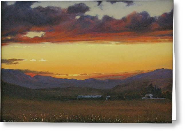 My Home's In Montana Greeting Card by Mia DeLode