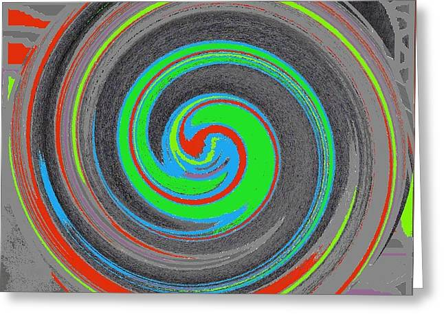 Greeting Card featuring the digital art My Hurricane by Catherine Lott