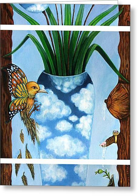 My Imagination Greeting Card by Praphavit Premtha