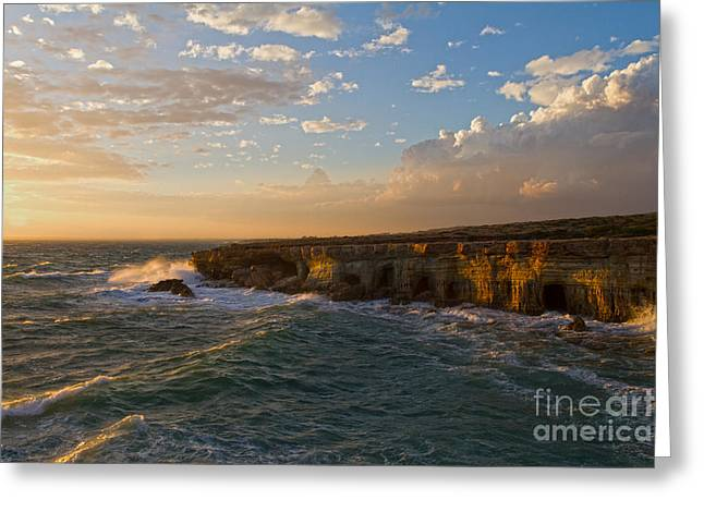 My Land Is The Sea Greeting Card by Stelios Kleanthous