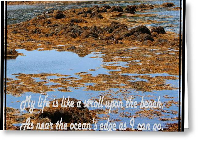 My Life Is Like A Stroll Upon The Beach Greeting Card