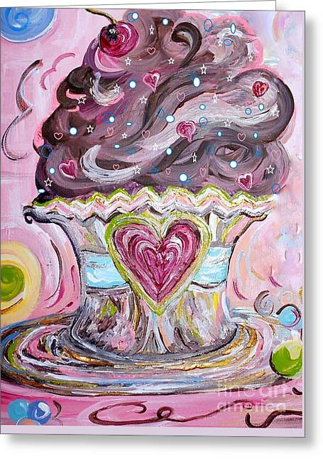 My Lil Cupcake - Chocolate Delight Greeting Card by Eloise Schneider