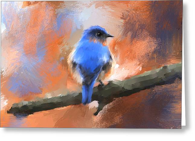 My Little Bluebird Greeting Card