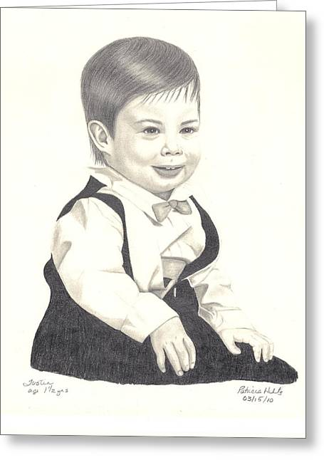My Little Boy Greeting Card by Patricia Hiltz