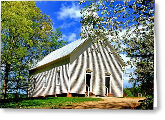 Greeting Card featuring the photograph My Little Country Church by Geraldine DeBoer