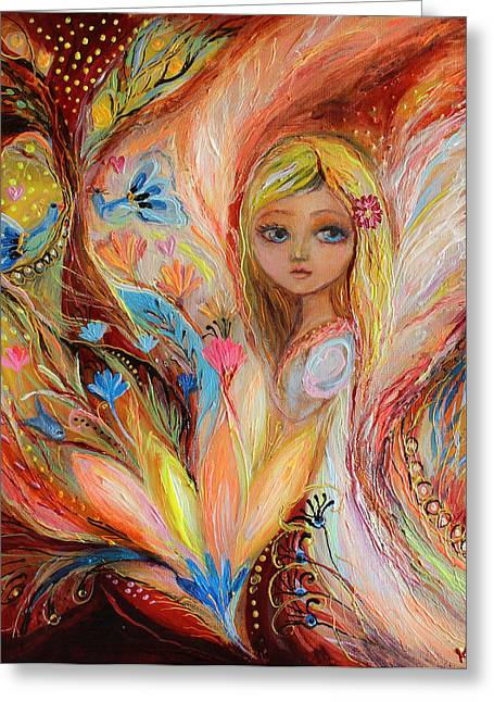 My Little Fairy Sandy Greeting Card by Elena Kotliarker