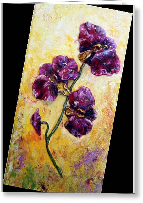 My Little Violet Orchids  Greeting Card