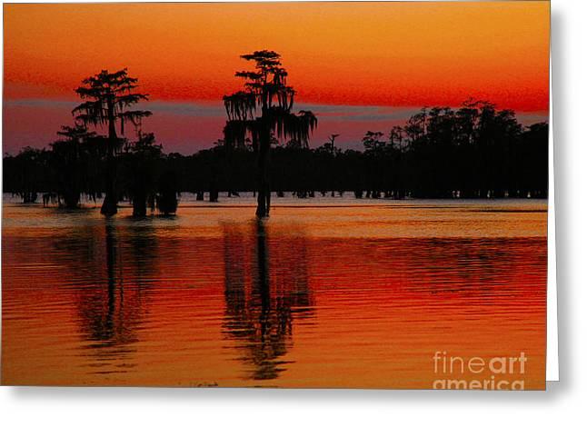 My Louisiana Heart Greeting Card by Luana K Perez