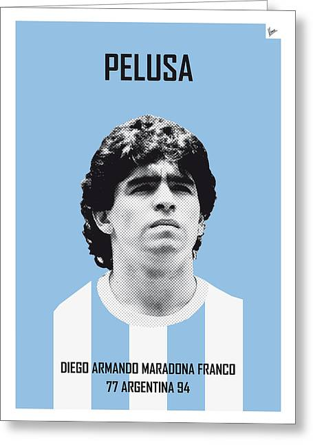 My Maradona Soccer Legend Poster Greeting Card by Chungkong Art