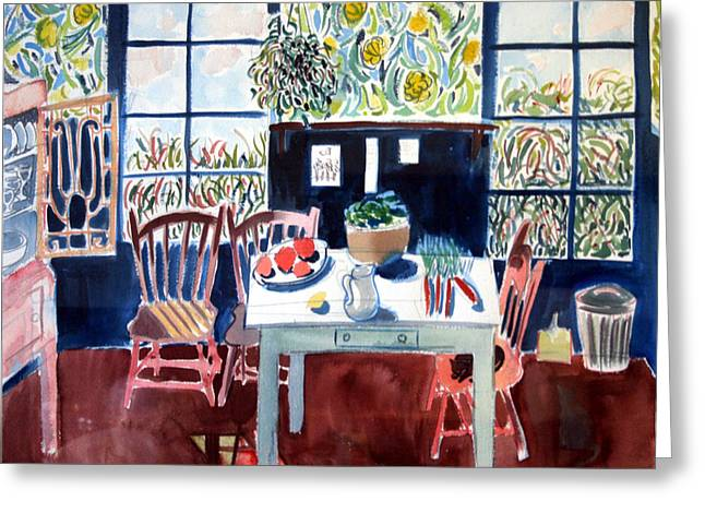 My Matisse Kitchen Greeting Card by Mark Lunde