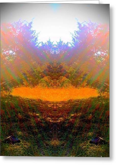 My Medicine Wheel Greeting Card by Karen Newell