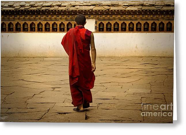 Greeting Card featuring the digital art My Monastery  by Angelika Drake