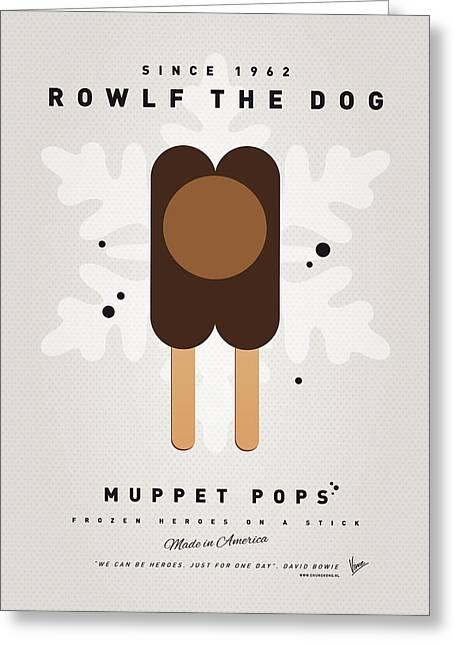 My Muppet Ice Pop - Rowlf Greeting Card by Chungkong Art