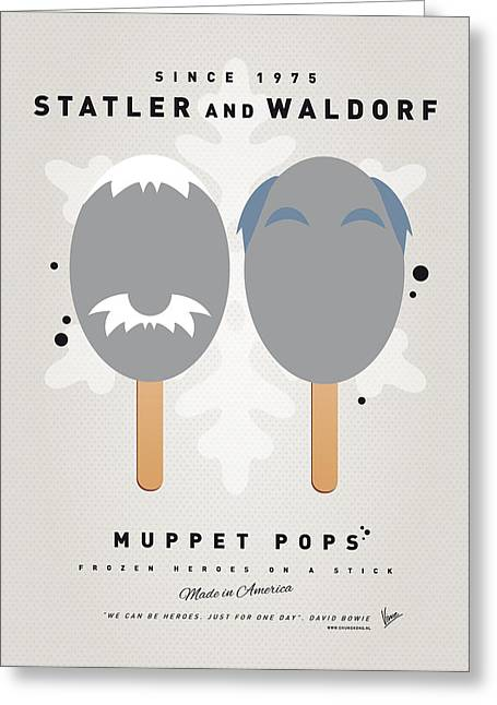 My Muppet Ice Pop - Statler And Waldorf Greeting Card by Chungkong Art