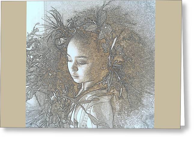 My Muse Greeting Card by Jodie Marie Anne Richardson Traugott          aka jm-ART