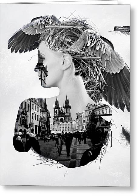 My Nest Greeting Card by Bojan Jevtic