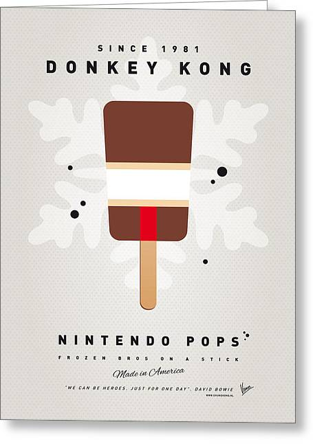 My Nintendo Ice Pop - Donkey Kong Greeting Card by Chungkong Art