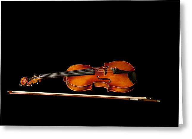My Old Fiddle And Bow Greeting Card