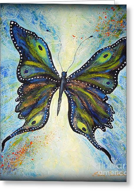 My Peacock Butterfly Greeting Card