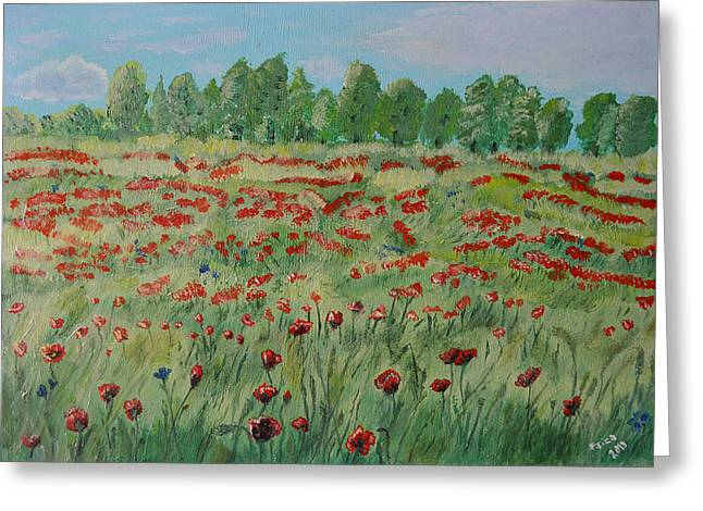 My Poppies Field Greeting Card