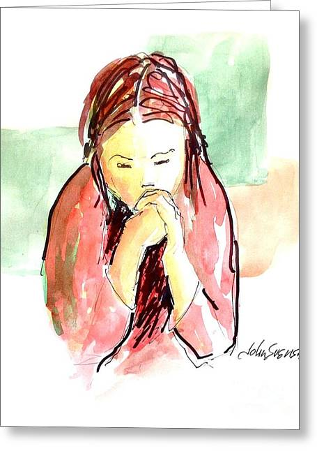 My Prayer Greeting Card by John  Svenson