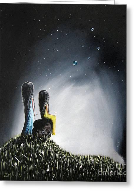Sureal Art By  Shawna Erback Greeting Card